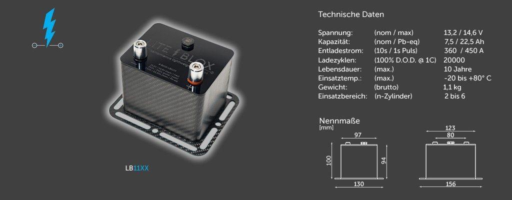 LITEBLOX LB11XX Motorsport Batterie