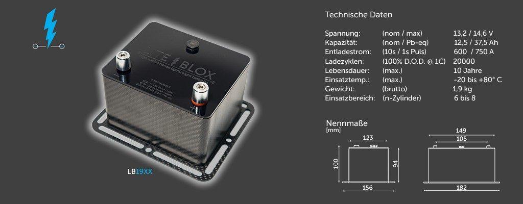 LITEBLOX LB19XX Motorsport Batterie