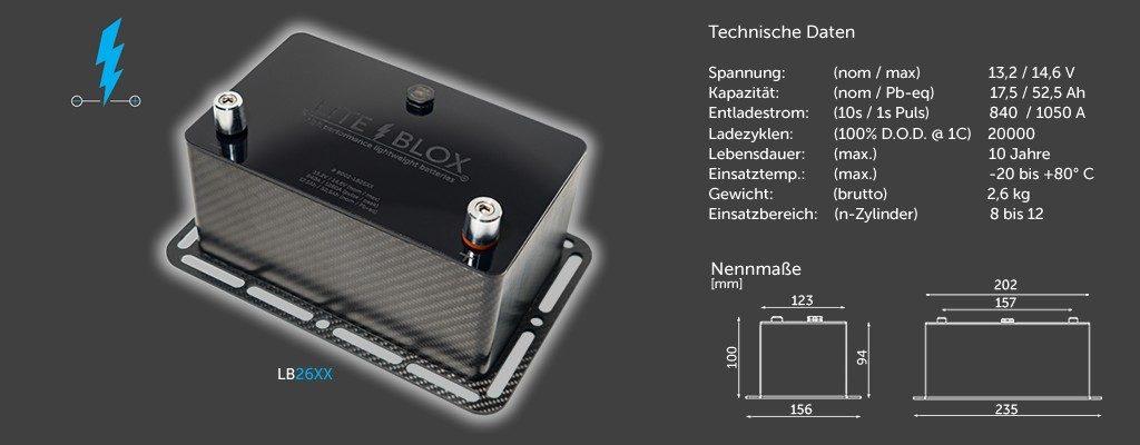 LITEBLOX LB26XX Motorsport Batterie